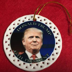 Trump Ornament Round Porcelain