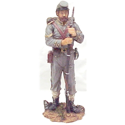 Civil War Confederate Soldier With Backpack Resin Figurine