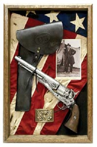 Civil War U S M1860 Revolver With Holster Shadow Box U S