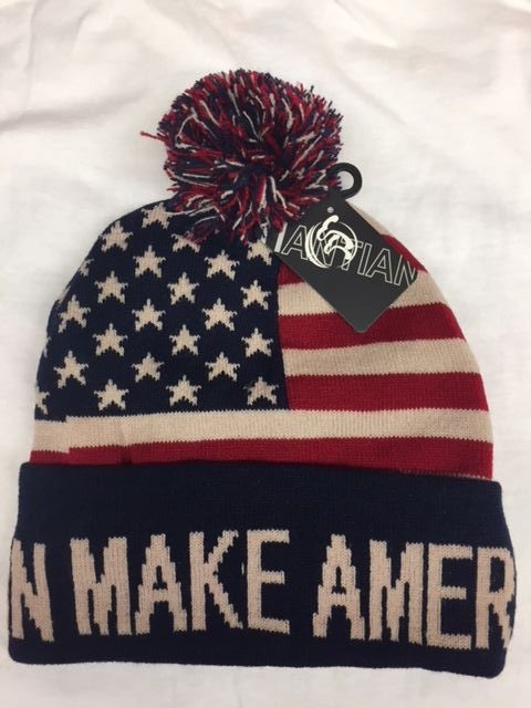 DONALD TRUMP USA MAKE AMERICA GREAT USA FLAG PATTERN KNIT HAT BEANIE NEW  c0e619ef423
