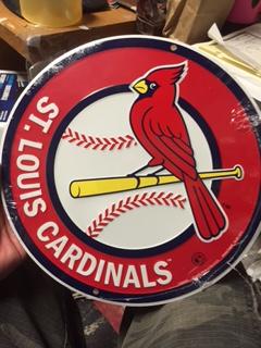 11 75 Quot Tin Sign Round St Louis Cardinals Baseball Metal