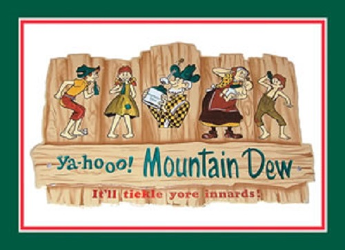 16 3 4 x 11 3 4 tin sign mountain dew hillbilly family yahoo metal