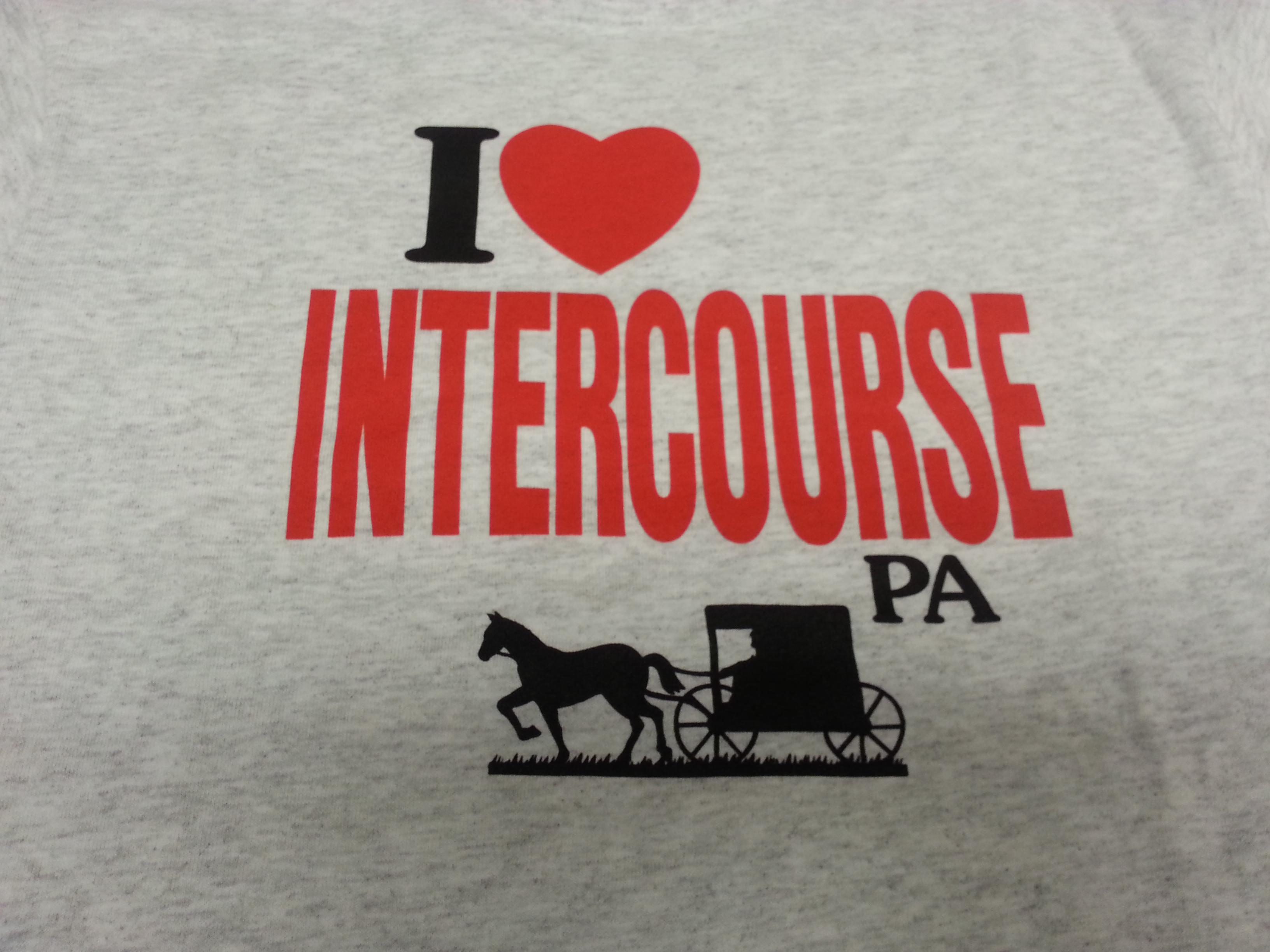 I Love Intercourse T Shirt Gettysburg Souvenirs Amp Gifts