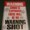 """8-1//4/"""" x 11-1//2/"""" Warning Fart Zone Enter At Your Own Risk Metal Garage Sign"""
