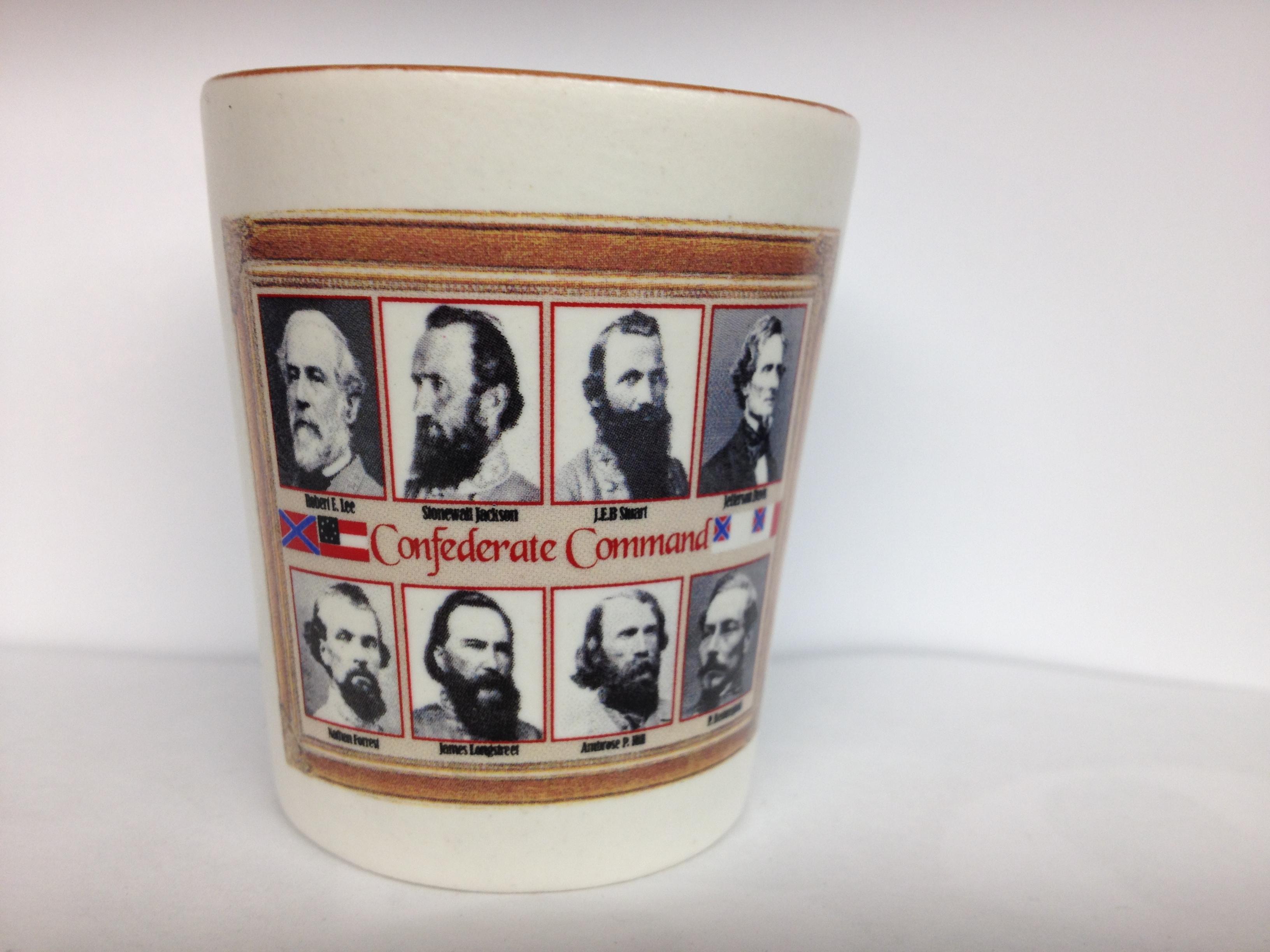 Confederate Commanders Civil War Shot Glass New