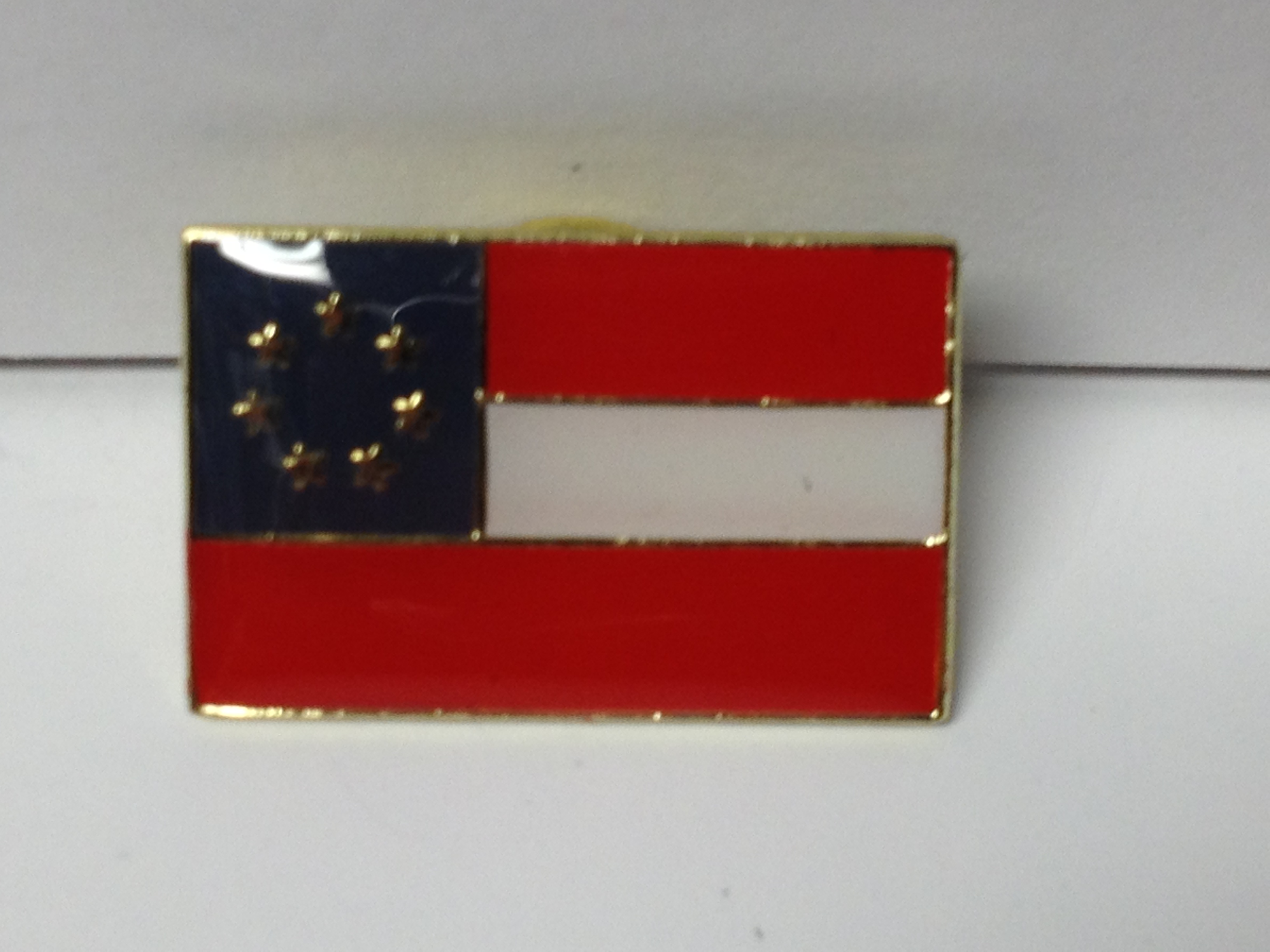 First Confederate Flag Lapel Hat Pin New Gettysburg