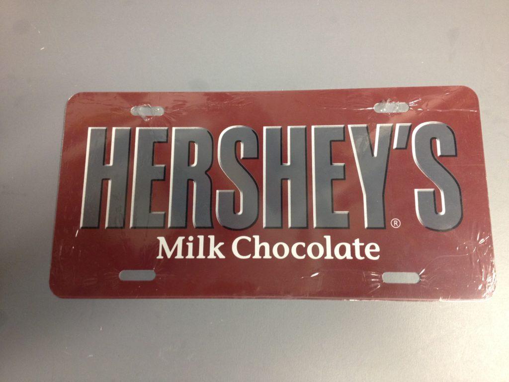 N//C Hershey Logo Metal Car Plate Aluminum License Plate