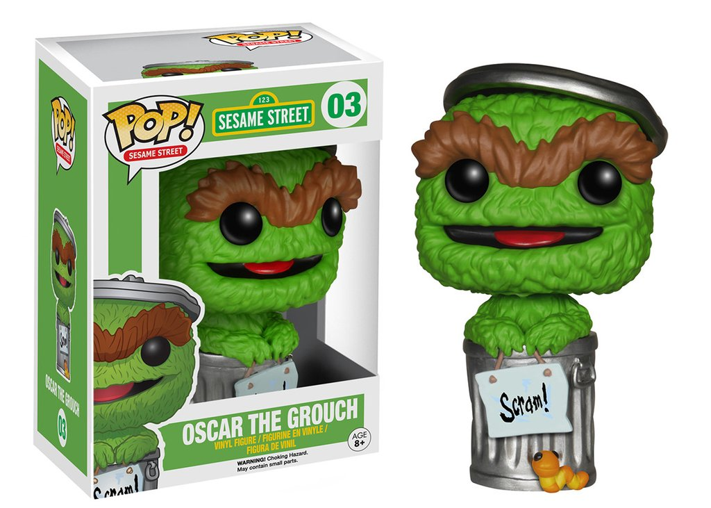Oscar The Grouch Pop Sesame Street Pop Vinyl Figure Funko