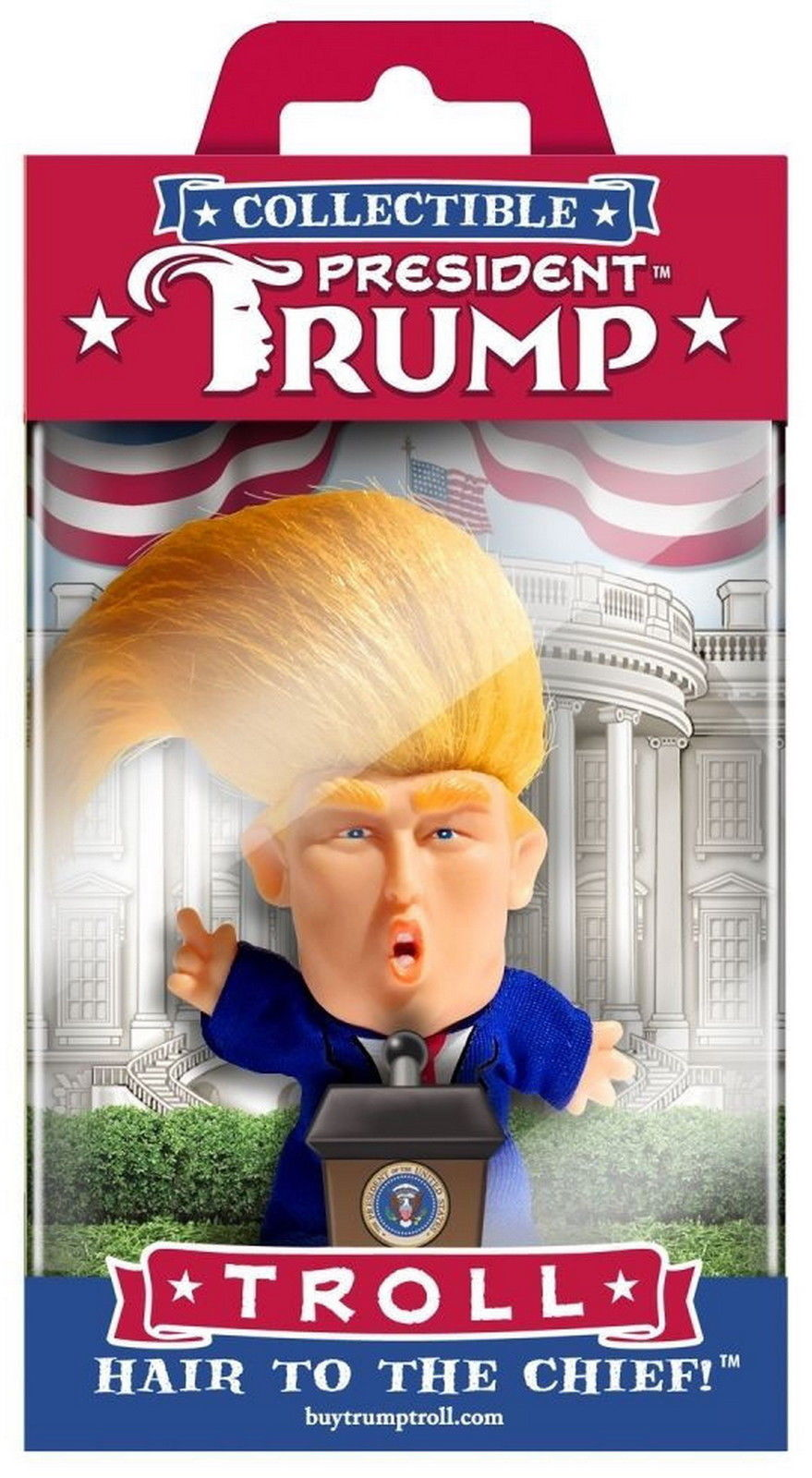 President Donald Trump Collectible Troll Doll Hair To The